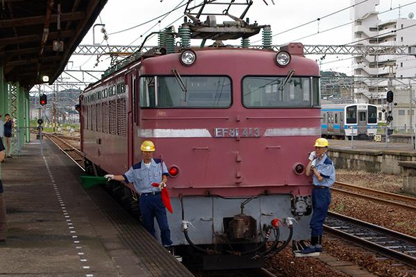 EF81-413 下関駅