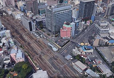 立川駅東方 (Google Earth より)