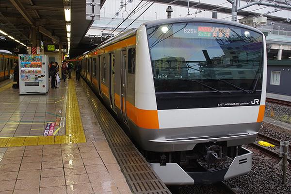 E233系0番台 H58編成 (立川駅 6番線)