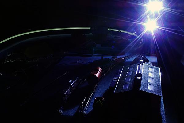 TOMIX 3205 ヤード照明灯 (LED) 点灯状態