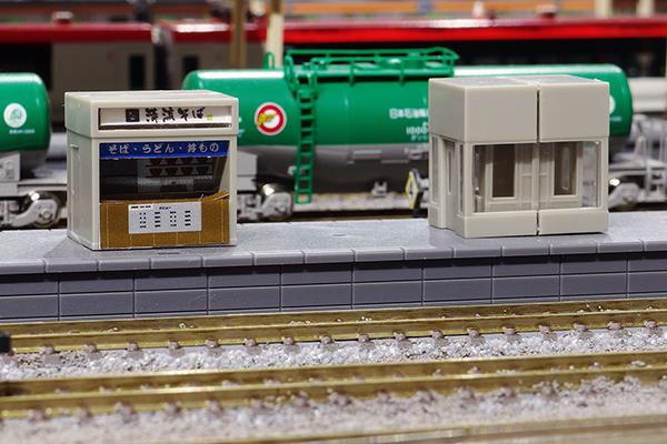 TOMIX 3242 トミックス ホーム(都市型)グレードアップパーツセット 売店 (立川駅 清流そば)・エレベーター