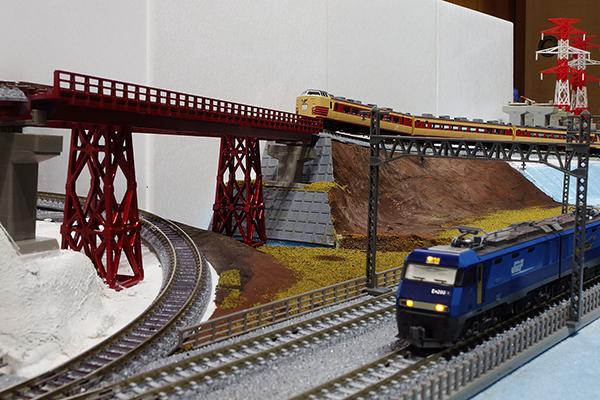 軍畑鉄橋 (奥沢橋梁) Nゲージレイアウト (ジオラマ)