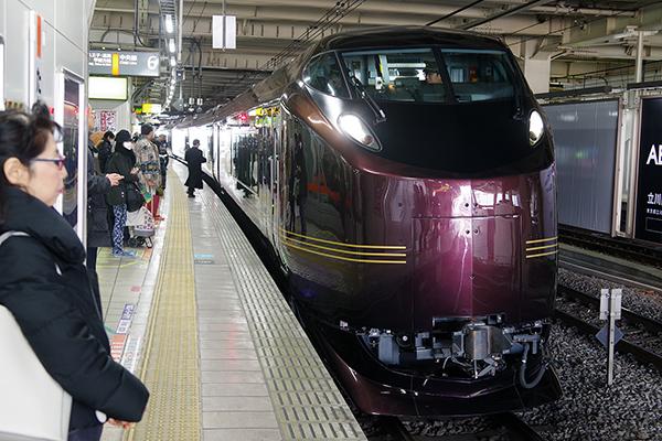 E655系「和(なごみ)」9011M 団臨 立川駅6番線