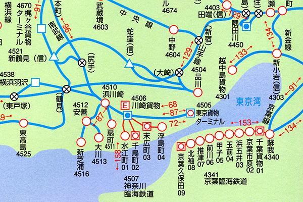 東京駅周辺貨物路線図