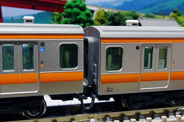 KATO Z04-5589 E259系 車体間ダンパー 加工・装着後