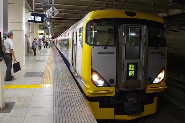 臨時快速「鎌倉あじさい号」 E257系500番台 立川駅 8番線