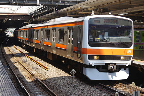 むさしの号 209系500番台 立川駅 4番線