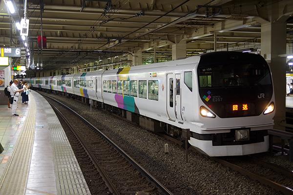 E257系 立川駅 待避線