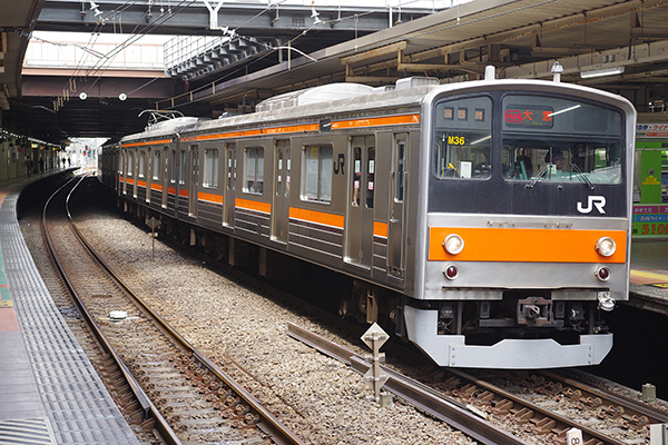 むさしの号 205系5000番台 立川駅 4番線
