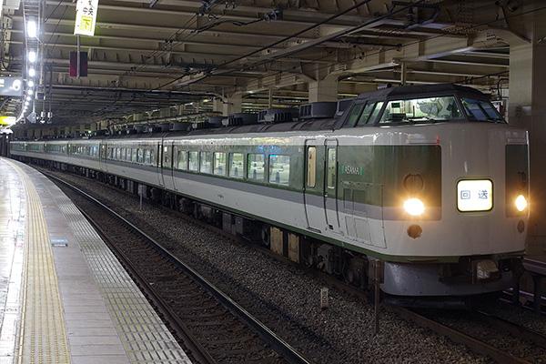 189系 N102編成「木曽あずさ」返却回送 立川駅待避線