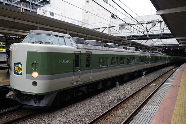 9068M かいじ188号 189系 N102編成 立川駅 3番線
