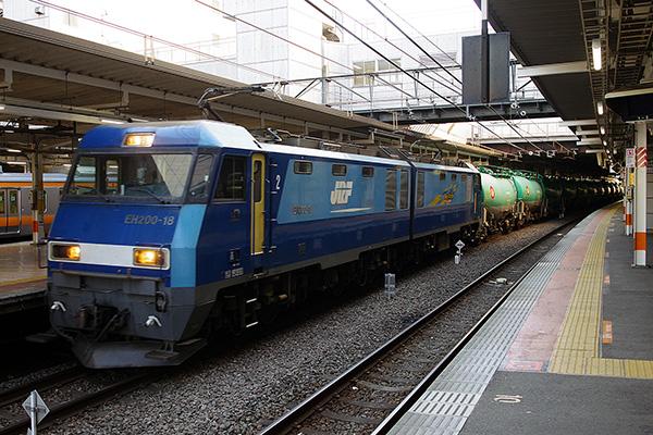 2080レ (南松本〜千葉貨物,石油返空) 立川駅 3番線