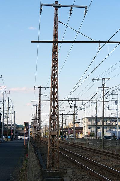 青梅線 青梅電気鉄道時代架線柱