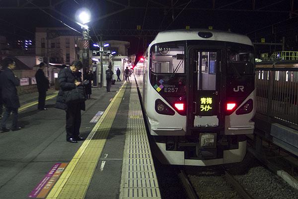 青梅ライナー 5号 青梅駅 2番線