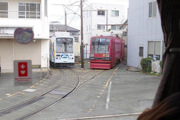 豊橋鉄道東田本線競輪場前停留場 留置線