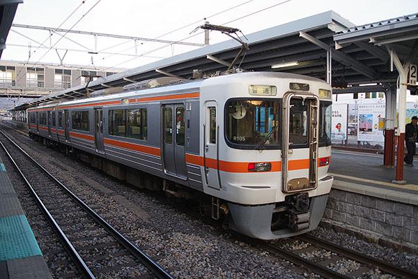 飯田線 519M (313系 R105編成) 岡谷駅 2番線