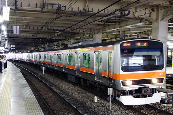 E231系0番台 (千ケヨMU4編成) 立川駅待避線