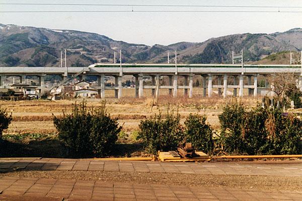 JR 東北本線 藤田駅から東北本線を望む
