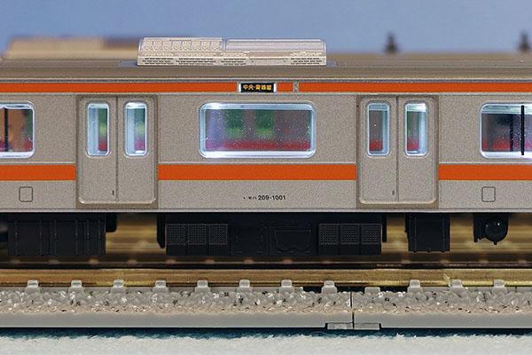 TOMIX 98334 JR 209 1000系通勤電車 (中央線) 基本セット・TOMIX 98835 JR 209 1000系通勤電車 (中央線) 増結セット+銀河モデル N-577 行き先ステッカー 〔側面用〕209系1000番代中央快速線用