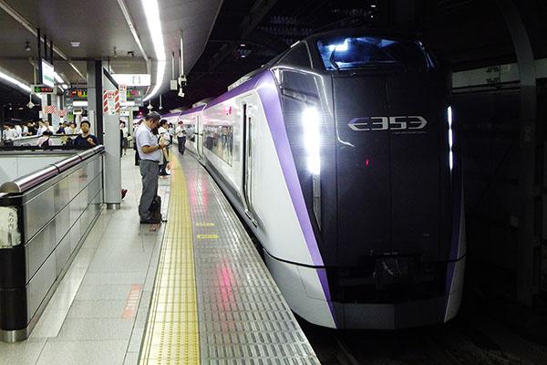 特急「おうめ」E353系 9両編成 東京駅 1番線